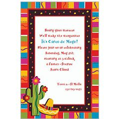 Fiesta Theme Party Invitations