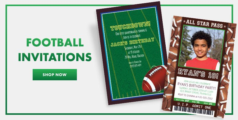 Football Invitations Shop Now
