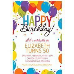 Custom Generic Birthday Invitaitons