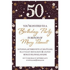 Custom Milestone Birthday Invitations