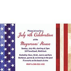 Patriotic Theme Party Invitations