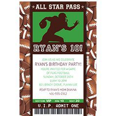 Custom Sports Invitations