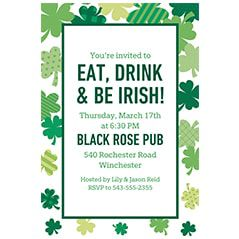 St. Patrick's Day Invitations
