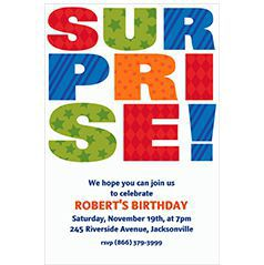 Custom Surprise Birthday Invitations