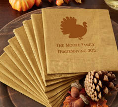 Personalized Fall-Themed Napkins
