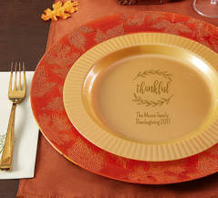 Personalized Fall-Themed Plates