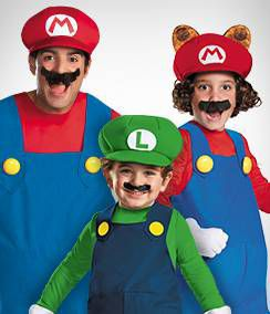 Super Mario Bros Group Costumes