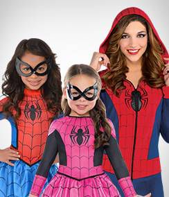 Spidergirl Group Costumes