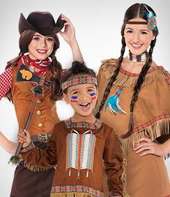 Cowboy & Native American Group Costumes