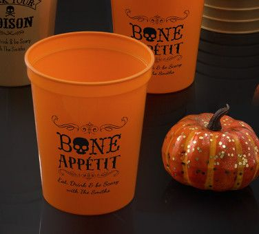 Personalized Halloween Cups