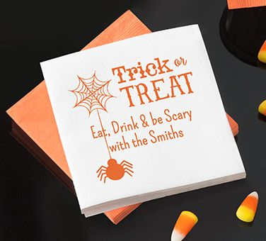 Personalized Halloween Napkins