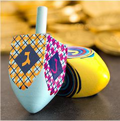 Dreidels & Hanukkah Party Favors
