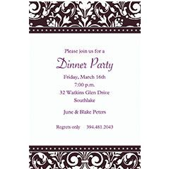 Custom Invitations for General Entertaining