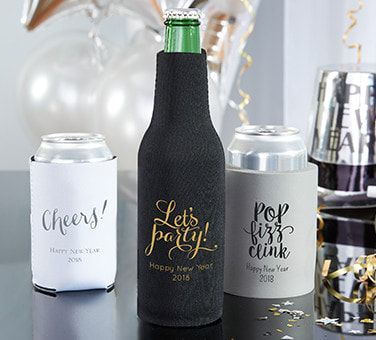 Personalized New Year's Coozies
