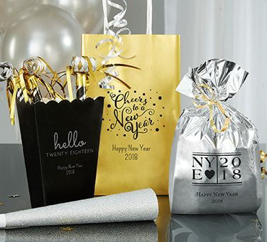 Personalized New Year's Favor Bags & Containers