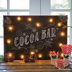DIY holiday sign idea