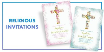 Religious Invitations Confirmation Communion Baptism