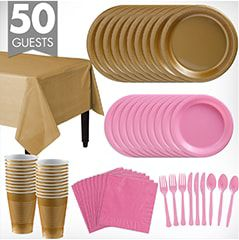 Solid Color Tableware Kits