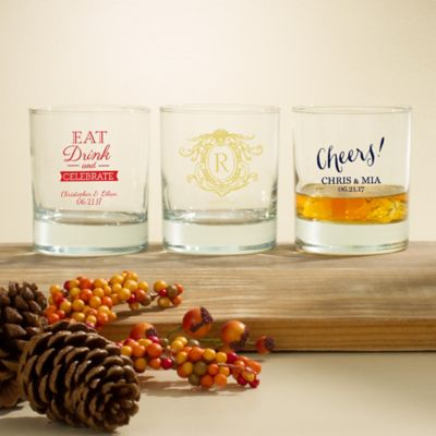 Personalized Thanksgiving Barware