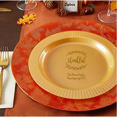 Personalized Thanksgiving Plates