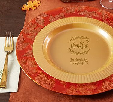 Personalized Thanksgiving Plates : personalized tableware - pezcame.com