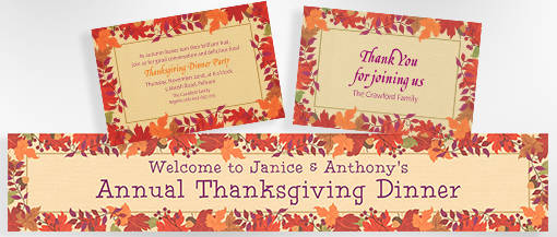 Fall Custom Banners & Invites