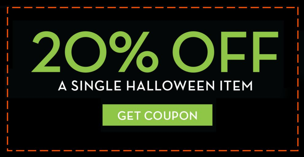 20% Off A Single Halloween Item