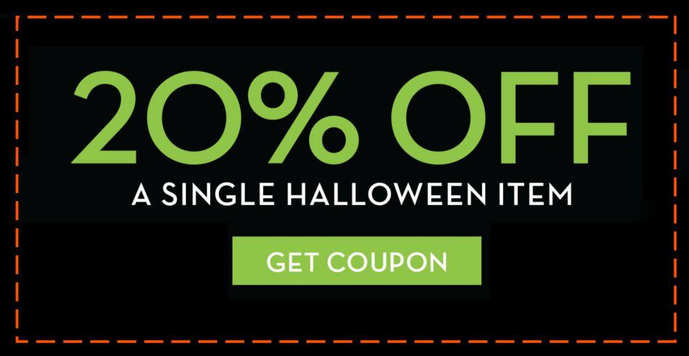 20 off a single halloween item