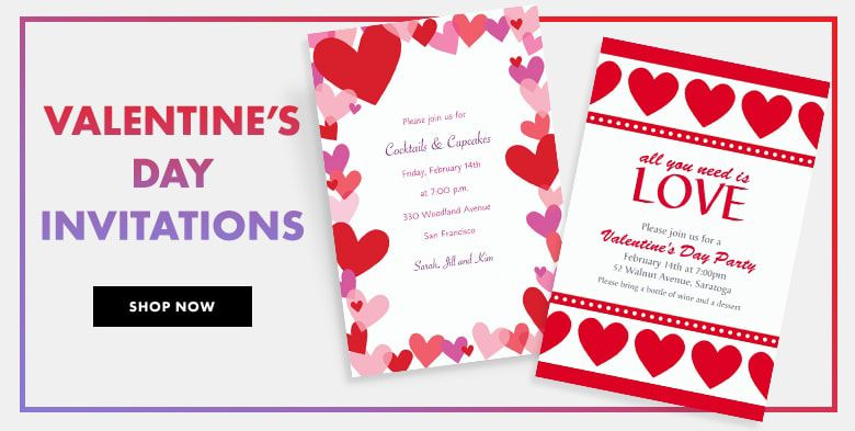 Valentine's Day Invitations Shop Now